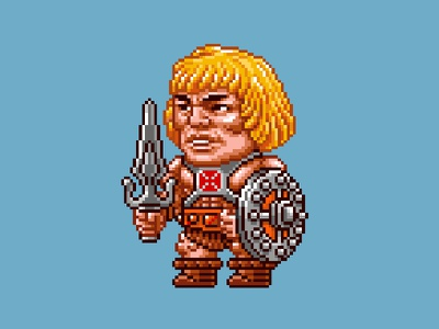 He-Man Pixels masters of the universe 80s 16 bit pixel art pixels skeletor he-man motu