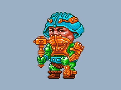 Man-At-Arms Pixels masters of the universe 80s 16 bit pixel art pixels skeletor he-man motu