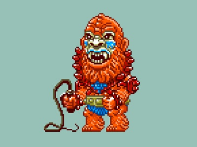 Beast Man Pixels masters of the universe 80s 16 bit pixel art pixels skeletor he-man motu