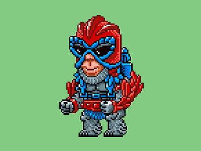 Stratos Pixels masters of the universe 80s 16 bit pixel art pixels skeletor he-man motu
