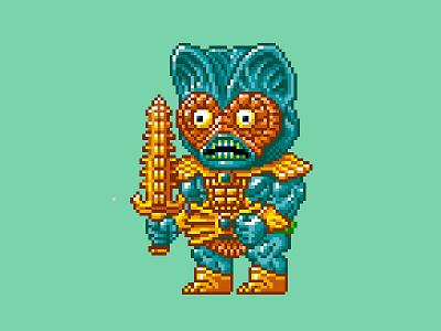 Mer-Man Pixels masters of the universe 80s 16 bit pixel art pixels skeletor he-man motu