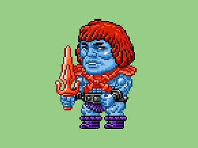 Faker Pixels masters of the universe 80s 16 bit pixel art pixels skeletor he-man motu