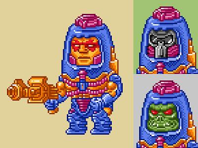 Man-E-Faces Pixels masters of the universe 80s 16 bit pixel art pixels skeletor he-man motu