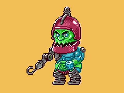 Trap Jaw Pixels masters of the universe 80s 16 bit pixel art pixels skeletor he-man motu