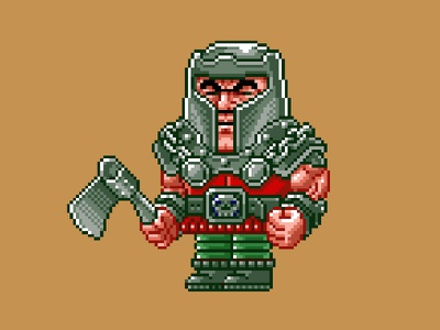 Ram Man Pixels masters of the universe 80s 16 bit pixel art pixels skeletor he-man motu