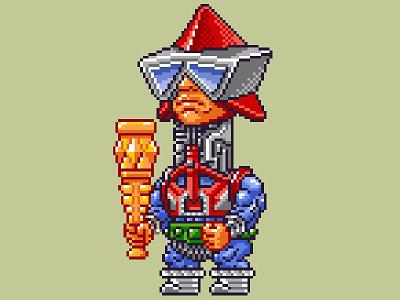 Mekaneck Pixels masters of the universe 80s 16 bit pixel art pixels skeletor he-man motu