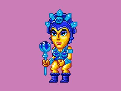 Evil-Lyn Pixels masters of the universe 80s 16 bit pixel art pixels skeletor he-man motu