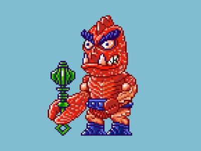 Clawful Pixels masters of the universe 80s 16 bit pixel art pixels skeletor he-man motu