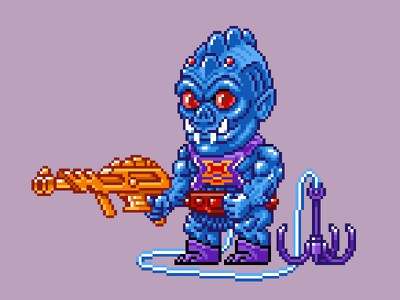 Webstor Pixels masters of the universe 80s 16 bit pixel art pixels skeletor he-man motu