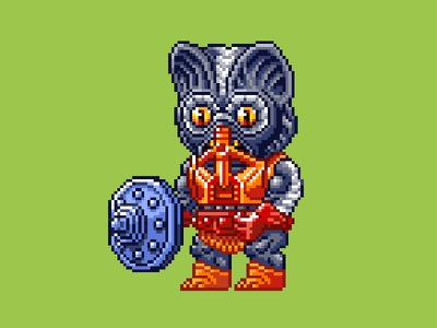 Stinkor Pixels masters of the universe 80s 16 bit pixel art pixels skeletor he-man motu