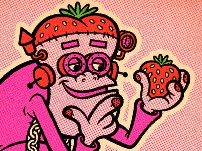Franken Berry cereal box frankenstein200 monster frankenstein fruit illustration vector mascot cereal frankenberry