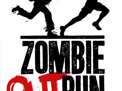 Zombie (Out)Run zombie 5k race silhouette logo