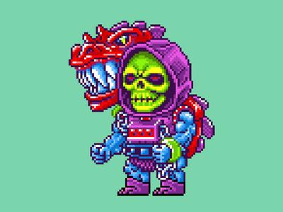 Dragon Blaster Skeletor Pixels