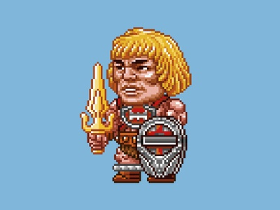 Thunder Punch He-Man he-man motu 16 bit nes pixels pixel art 80s illustration