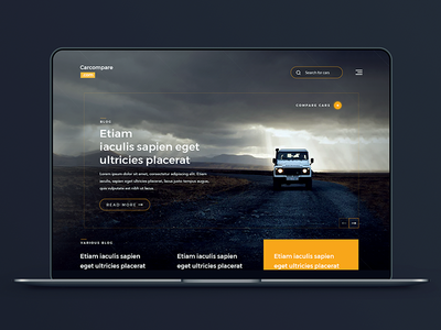 Concept Car Blog and Compare Website