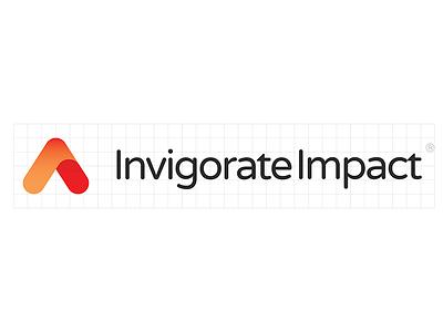 Invigorate Impact Logo Design identity arrow geometric shapes brand logodesign design logo