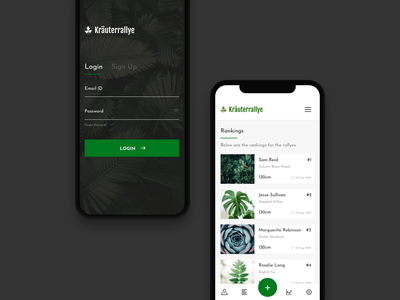 Mobile App login page login design login ranking ui elements app plant plant-app design uxdesigner uidesign ux process ui