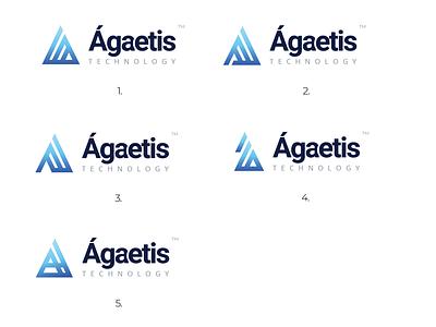 Agaetis Technologies Logo Options website identity brand geometric logo geometric design geometic tech company tech logo designer graphic logodesign logo
