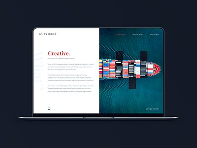 Logistics Landing Page website brand uidesigner webdesign web modern uidesign designer design
