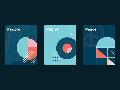 Five Pillars Card Designs (1/2) uidesign ux uiux ui cards ui cards design cards pillars five