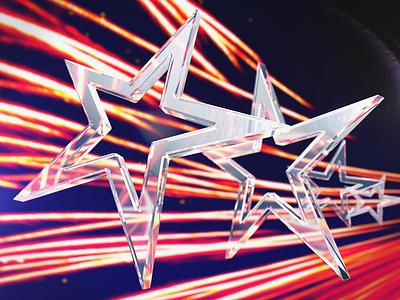 Glass Stars dof render 3d glass stars