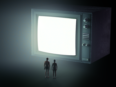 The Monitor c4d light people monitor render