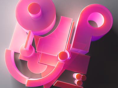 SubGeo plastic lighting 3d colourful geometric c4d render
