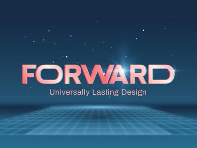 Forward grid futuristic futurism neon pastel typography crystals blue psychadelic branding illustration vector identity design