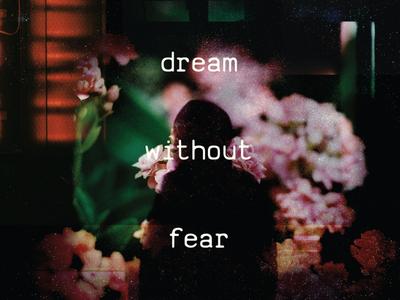 Dream Without Fear psychedelic dark figure shadow ruckenfigur digital floral fear dreamy dream