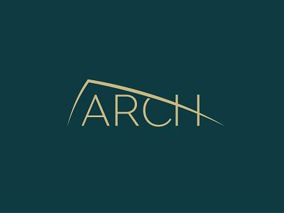 Arch logo design arch architecture logo flat typography vector branding identity design