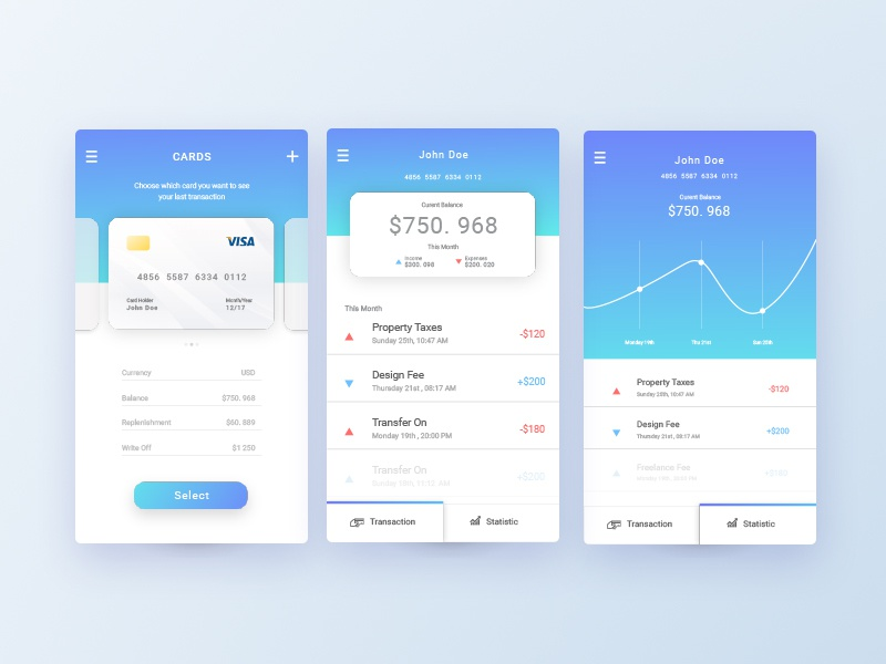 Mobile Banking App Concept ux ui application banking mobile account