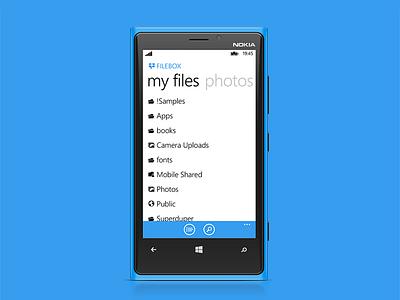 Filebox wp8 windows phone dropbox