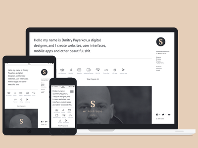 My portfolio responsive strash website portfolio