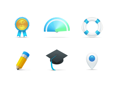 Icons icon vector blue