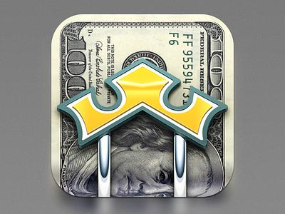 iosappicon ios vector green icon silver gold logo dollar