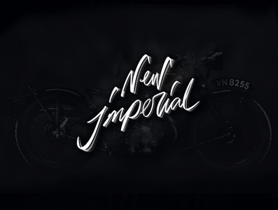 New Imperial logo moto moto logo lettering calligraphy concept old moto