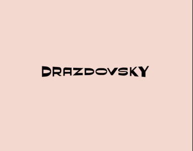 DRAZDOVSKY logo lettering calligraphy
