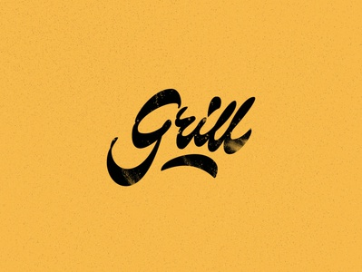 Grill grill logo art design typography cyrillic lettering calligraphy