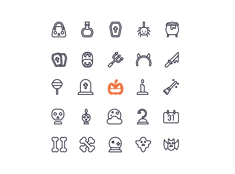 Halloween icon set blood hook iconpack iconset icon scary ghost halloween party trident pumpkin halloween