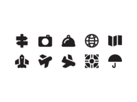 Travel Solid Icon