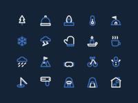 Winter icon set