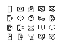 Communication icon simple