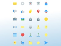 User interface icon set