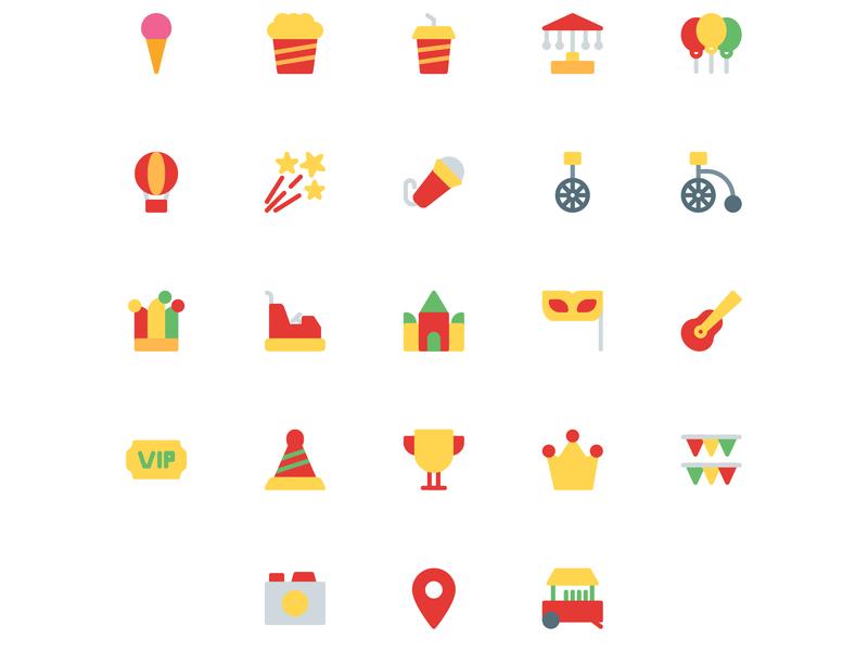 Festival icon set food location ticket mask festival festival icon holiday icon set icon a day icon