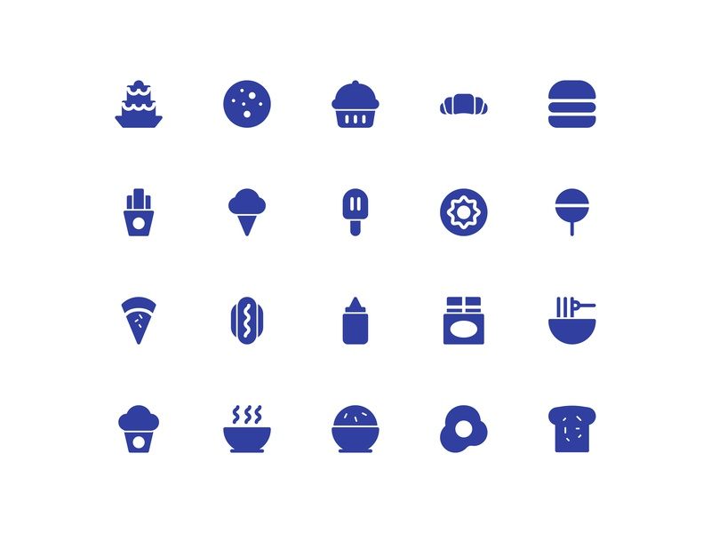Food icot set icon vector icon set iconfinder icon food