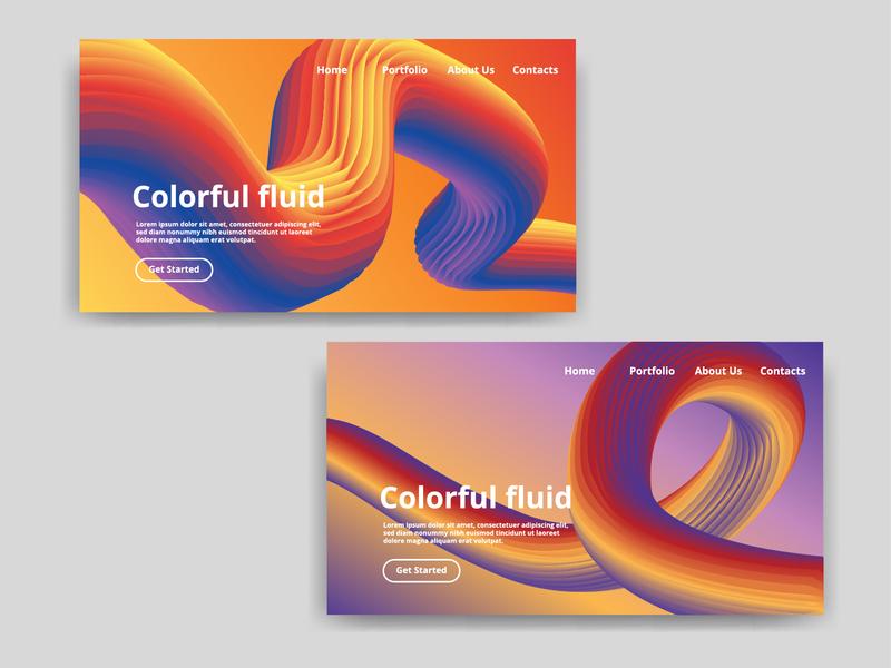 Colorful Fluid random website gradient landing page ui landing page concept color landing page