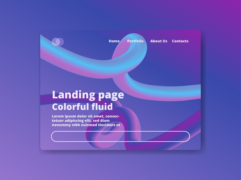 Colorful Fluid landing page simple simple ui web purple colorful landing page gradient