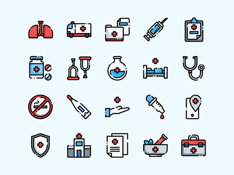 medical icon set doctor ambulance for sale medical ui flat icon