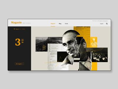 Czech philharmonic online magazine hero section