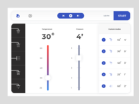Futuristic shower interface concept